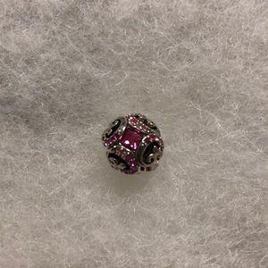 Chamilia pink jeweled charm